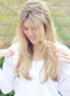 Gorgeous Boho Hair. Tuck in some flowers :)