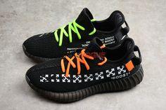 a86b450b8bd Custom Off White x Yeezy Boost 350 V2 Core Black Balenciaga Low Sneakers
