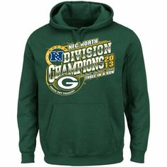 Green Bay Packers 2013 NFC North Division Champions Pullover Hoodie - Green