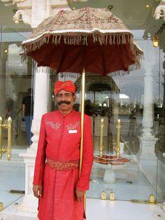 An Indian welcome at the Taj Lake Palace