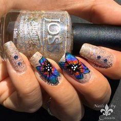 Nails by Cassis: Multicolor Lilly Stamping Mani #nails #nailart #nailstamping #uberchic