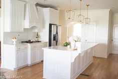 Arkansas lifestyle blogger, Jennifer from Maune Legacy, shares the before and after of a bright white kitchen remodel that transformed their kitchen. Click here now for white kitchen remodel ideas!| After pictures of a white kitchen remodel
