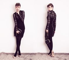 Lace /// charlotte rouge (by Natalie K) http://lookbook.nu/look/4406579-Lace-charlotte-rouge