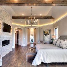 Trendy Farmhouse Master Bedroom Design Ideas – Best Home Decorating Ideas Dream Master Bedroom, Farmhouse Master Bedroom, Master Bedroom Design, Home Bedroom, Bedroom Decor, Bedroom Ideas, Bedroom Furniture, Bedroom Lighting, Bedroom Designs