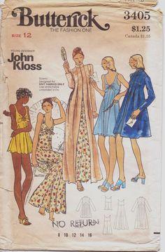 Vintage 70s Butterick Pattern 3405 John Kloss by CloesCloset, $45.00