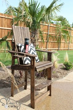 Tall Deck Chair Plans - WoodWorking Projects & Plans