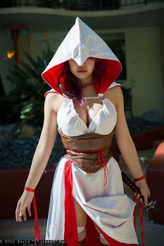 Assassin's Creed female lingerie cosplay.