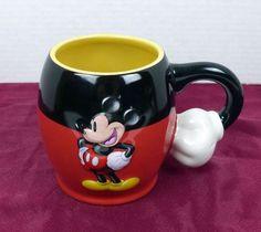 Mickey Mouse Walt Disney Parks 3D Embossed Arm Hand Handle 20 oz Coffee Mug Tea  #DisneyParks