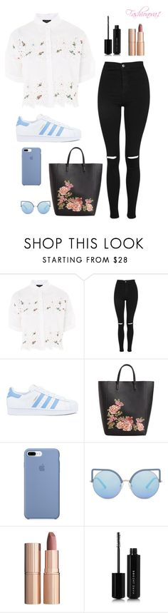 """""""Even if"""" by fashionova1 ❤ liked on Polyvore featuring Topshop, adidas, MANGO, Matthew Williamson, Charlotte Tilbury and Marc Jacobs"""
