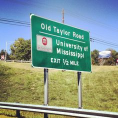 Ole Miss. I used to stay off Old Taylor Rd. while I lived in Oxford. Such Fun Memories. Ole Miss Football, James Madison University, Miss Girl, University Of Mississippi, Ole Miss Rebels, Psychology Books, Alma Mater, Down South, Life Science