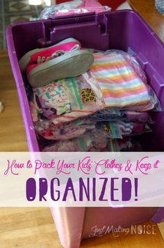 just-making-noise: How to Pack Your Kids' Clothes & Keep it Organized