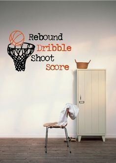 Basketball Hoop  Vinyl Wall Decal BSK535 by VisionsInVinyl on Etsy
