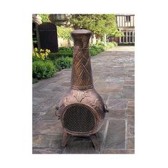 Chimenea Oakland Living Wood Burning Round (€555) ❤ liked on Polyvore featuring home, outdoors, outdoor decor, chimenea, grills & fireplaces, outdoor fireplaces, patio & outdoor decor, wood burning fire pit, outdoor garden decor and outside fire pit