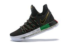 Spring Summer 2018 New Nike Zoom KD X 10 LMTD BHM Black History Black Green Red 2018 Mens Basketball Shoes 897817-003