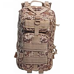 Military Tactical Backpack Large Army 3 Day Assault Pack Out Bag Backpack  Rucksacks for Outdoor Hiking Camping Trekking Hunting 8    Learn more by  visiting ... 04572f35dd