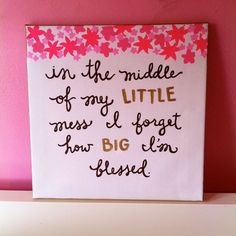 Little Problems -in the middle of my little mess I forgot how big I'm blessed