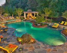 Indoor pool for a honeymoon resort