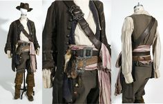 full jack sparrow costume may come in handy later; Pirate Garb, Pirate Cosplay, Jack Sparrow Costume, Larp, Steampunk Pirate, Renaissance, Pirate Fashion, Revival Clothing, Haute Couture Fashion