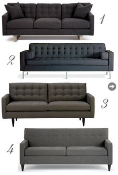 Trendy Mid Century Modern classic sofas