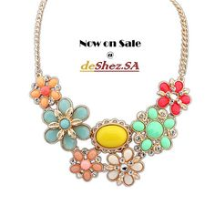 Funky Coral Street Statement Necklace  #1215 Price = R 150 Available now for purchase. Email deshezsa@gmail.com or WhatsApp 084 223 4454 to place your order. Delivery in PTA & JO'BURG = R50 Delivery Outside Gauteng = R60 Free delivery for Purchases above R500 Colours: Blue = Available Green = Out of Stock Mixed colours = Available Yellow = Out of Stock