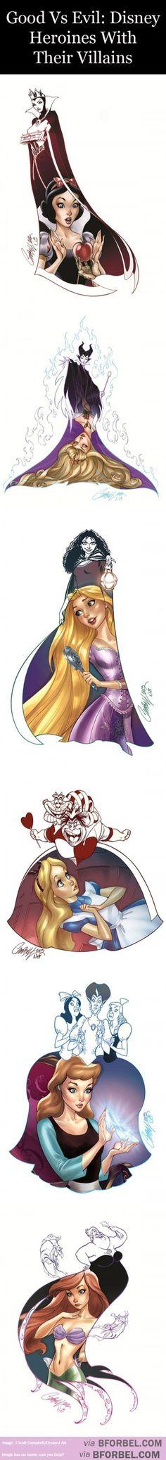 5 Disney Heroines And Their Villains…