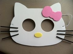 Hello Kitty inspired party masks by HippityHatsandMore on Etsy, $12.00