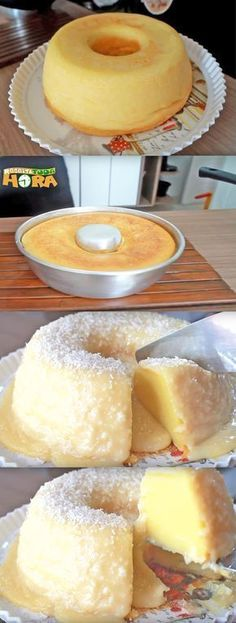 Bolo Pega Marido #BoloPegaMarido #Receitatodahora Sweet Recipes, Cake Recipes, Dessert Recipes, Portuguese Desserts, Portuguese Recipes, Tasty, Yummy Food, Yummy Cakes, Love Food