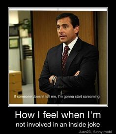 So true.    Also, The Office seriously isn't the same without Michael.