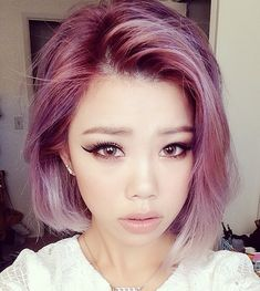 LazybumtToT ✌: How to get pastel hair (from dark Asian hair) Hair Color Asian, Hair Color Purple, Pink Hair, Hair Colours, Purple Bob, Asian Hair Dye, Asian Ombre, Pink Purple, Green Hair
