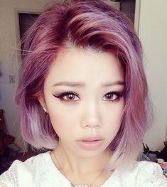 Couleur de cheveux à avoir - violet rose pastel !