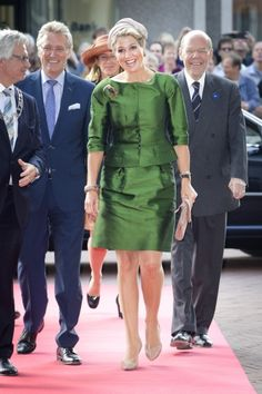 Queen Maxima of the Netherlands  at the opening of the new Fries Museum in Leeuwarden