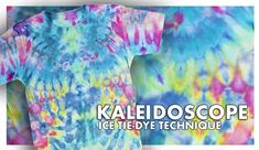 Kaleidoscope Ice Tie-Dye Technique Learn how to tie dye with ice! This ice tie-dye tutorial shows you how easy it is to use Tulip tie dye to create cool kaleidoscope tie-dye effects. Tie Dye Folding Techniques, Fabric Dyeing Techniques, Art Techniques, Tie Dye Tutorial, How To Tie Dye, Tie And Dye, Tie Dyed, Ice Tye Dye, Tulip Tie Dye
