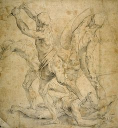 Fine Art Print / Poster - Raffaello Sanzio Raphael - Drawing for The School of Athen's