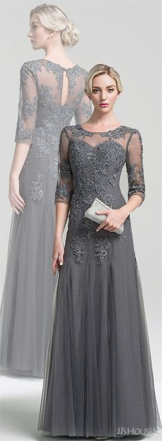 18 Long Length Mother of the Bride and Groom Dresses ❤️ See more: http://www.weddinginclude.com/2017/06/long-length-mother-of-the-bride-and-groom-dresses/