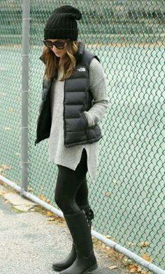 Look de inverno: Colete + Tricot