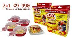 2x1 Easy Eggwich (4) Unidades ¢9.990!!! As Seen On TV!!!