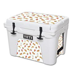 MightySkins Protective Vinyl Skin Decal for YETI Tundra 35 qt Cooler wrap cover sticker skins Food Junkie -- More info could be found at the image url. (This is an affiliate link) #CoolersandAccessories