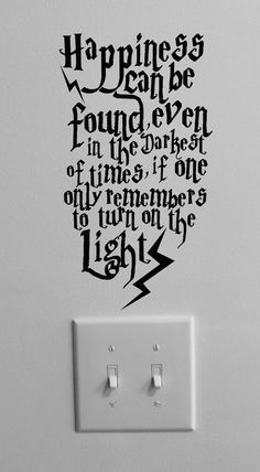 Happiness can be found even in the darkest by PeelAndStickDecals, $9.99