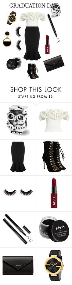 """#graduation"" by elenh-tata ❤ liked on Polyvore featuring Brock Collection, Collectif, NYX, Balenciaga, Gucci and Warehouse"