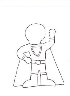 Make your own Super Hero and have kids tell you what their power is and why.  Gracias S. Taylor!