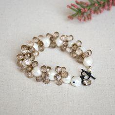 Nicole's Bead Shop Champagne Bubbles #Bracelet #jewelry #DIY