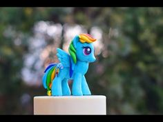 How to make Rainbow Dash, My Little Pony cake topper figurine out of fondant tutorial - YouTube