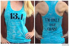 A personal favorite from my Etsy shop https://www.etsy.com/listing/191060725/131-im-only-half-crazy-burnout-tank-top