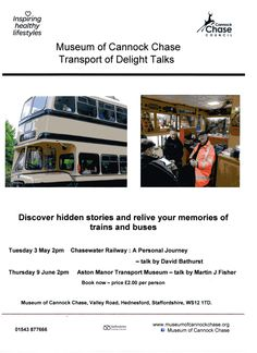 Chasewater Railway Museum Transport talks at the Museum of Cannock Chase