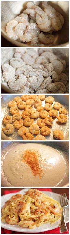 cookglee recipe pictures: Crispy Shrimp Pasta