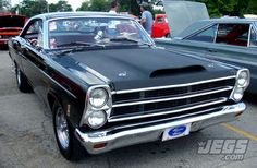 A Very Nice Ford Fairlane Seen At Goodguys Rod & Custom Association Car Show In Columbus, OH.   What Are Your Thoughts On Flat Black Hoods Like The One Pictured?