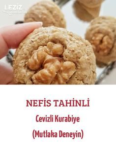 Nefis Tahinli Cevizli Kurabiye (Mutlaka Deneyin) - Leziz Yemeklerim - galletas - Las recetas más prácticas y fáciles Delicious Cake Recipes, Yummy Cakes, Sweet Recipes, Yummy Food, Tahini, Chocolate Desserts, Fun Desserts, Dessert Recipes, Walnut Cookies