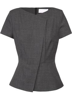 tailored peplum look Casual Work Outfits, Work Attire, Blouse Styles, Blouse Designs, Ladies Day Outfits, Formal Tops, Corporate Attire, Blazer Fashion, Elegant Outfit