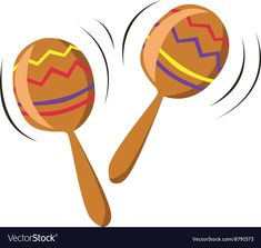 Musical Maracas vector image on VectorStock Children's Instruments, Teaching Music, Single Image, Tree Art, Trumpet, Tattos, Adobe Illustrator, Vector Free, Web Design