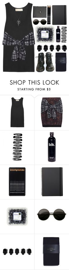 Grunge by adorechic on Polyvore featuring MICHAEL Michael Kors, 3.1 Phillip Lim, Zara, Fashionology, Muji, D.L. & Co. and Dr. Martens